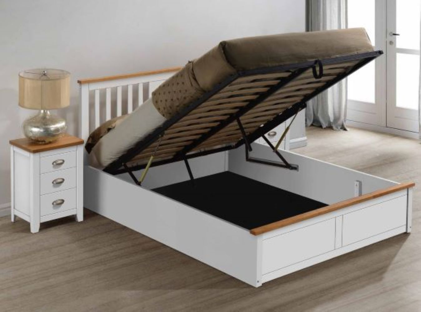 Picture of: Kensington King Size Ottoman Storage Bed Pay Weekly Carpets